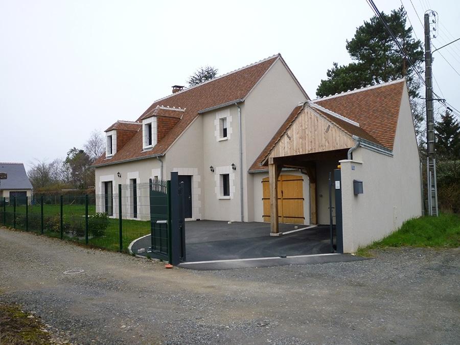 Réalisation d'une maison traditionnelle à Fondettes 37230