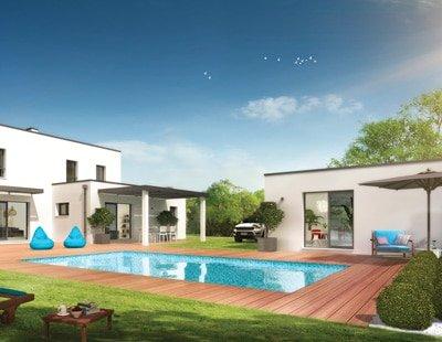maison contemporaine design moderne avec ses toits plats et lignes géométriques